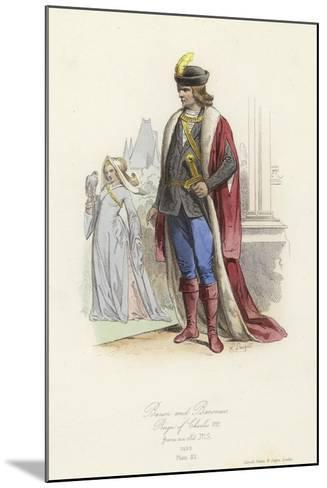 Baron and Baroness, Reign of Charles VIII of France--Mounted Giclee Print