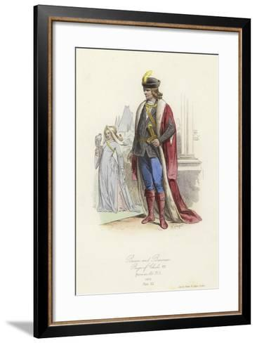Baron and Baroness, Reign of Charles VIII of France--Framed Art Print