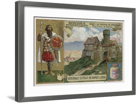 Baden; Zaehringen Castle and Berthold Ii, Duke of Carinthia, 1060--Framed Art Print
