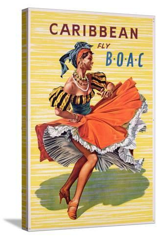 Poster Advertising B.O.A.C. Flights to the Caribbean, C.1950--Stretched Canvas Print