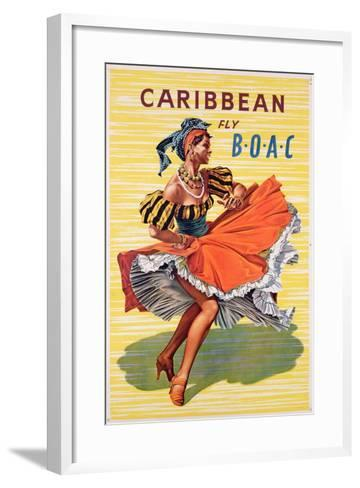Poster Advertising B.O.A.C. Flights to the Caribbean, C.1950--Framed Art Print