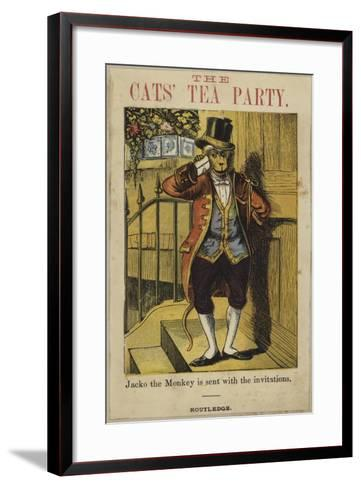 Jacko the Monkey Is Sent Out with the Invitations--Framed Art Print