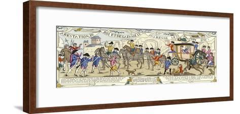 The Arrest of Louis XVI of France and His Family, Varennes, 22 June 1791--Framed Art Print