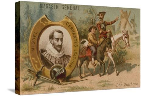 Miguel De Cervantes, Spanish Novelist, Poet and Playwright--Stretched Canvas Print