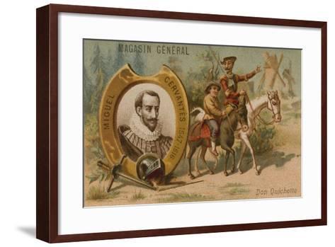 Miguel De Cervantes, Spanish Novelist, Poet and Playwright--Framed Art Print
