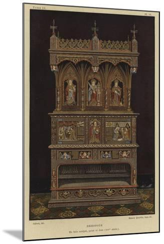 Carved, Painted and Gilded Wooden Dresser, 15th Century--Mounted Giclee Print