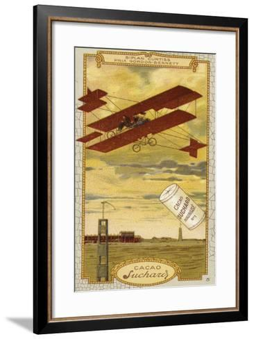 Curtiss Biplane Competing for the Gordon Bennett Trophy--Framed Art Print