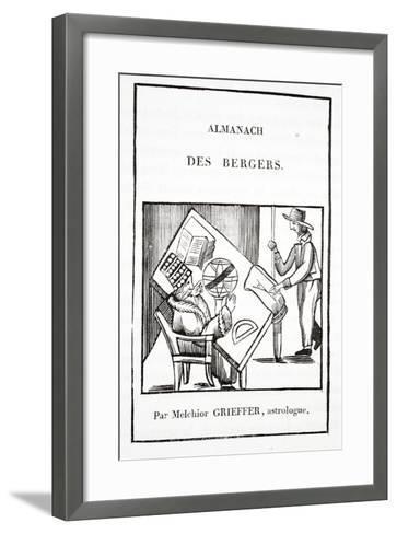 Almanac of the Shepherds by Melchior Grieffer, Astrologer--Framed Art Print