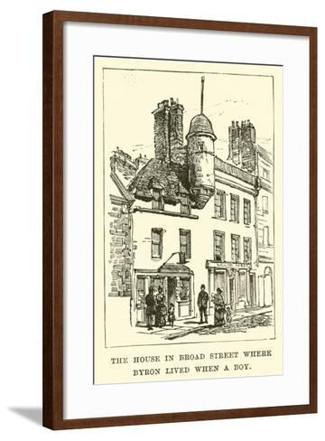 The House in Broad Street Where Byron Lived When a Boy--Framed Art Print