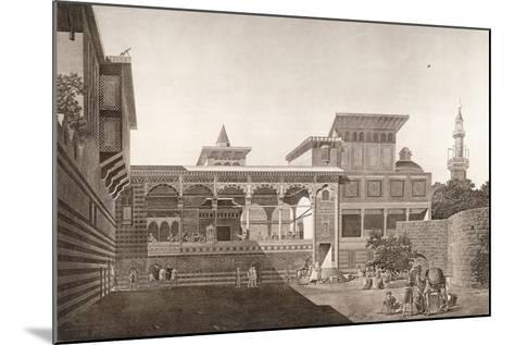 Cairo: View of the Interior of the House of Osman Bey, 1820-1830--Mounted Giclee Print