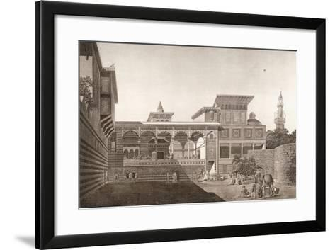 Cairo: View of the Interior of the House of Osman Bey, 1820-1830--Framed Art Print
