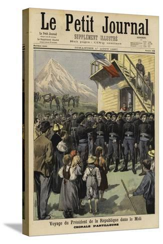 Visit of French President Felix Faure to the Midi, 1897--Stretched Canvas Print
