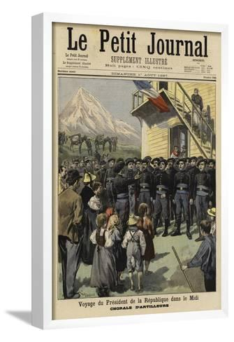 Visit of French President Felix Faure to the Midi, 1897--Framed Art Print