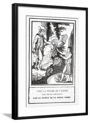 The Apparition of the Spirit, a Secret of the Black Hen--Framed Art Print