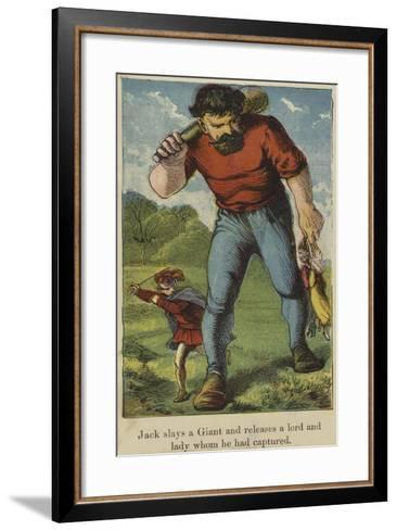 Jack Slays a Giant and Releases a Lord and Lady Whom He Had Captured--Framed Art Print