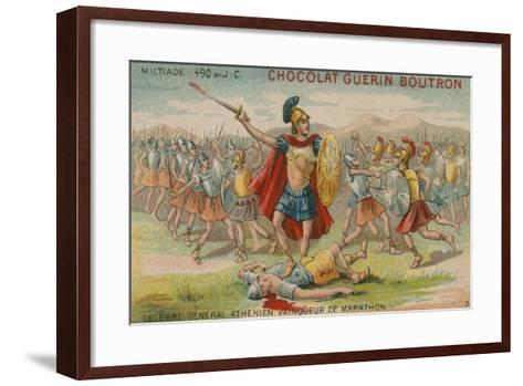 Miltiades, Athenian General and Victor of the Battle of Marathon, 490 Bc--Framed Art Print