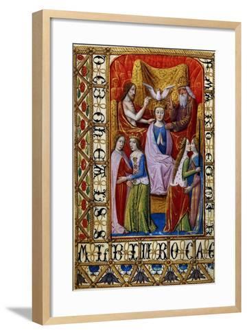The Coronation of the Virgin by the Holy Trinity, C.1500--Framed Art Print