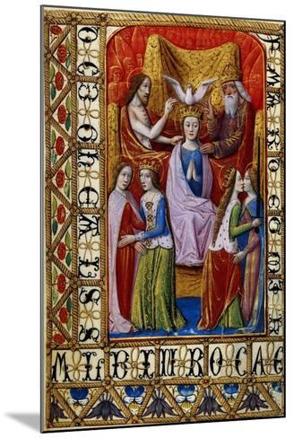 The Coronation of the Virgin by the Holy Trinity, C.1500--Mounted Giclee Print