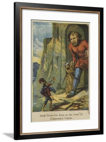 Jack Blows His Horn at the Gate of the Cormoran's Castle--Framed Art Print