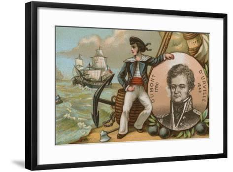 Jules Dumont D'Urville, French Naval Officer and Explorer--Framed Art Print