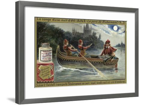 Scene from a Midsummer Night's Dream, an Opera by Ambroise Thomas--Framed Art Print