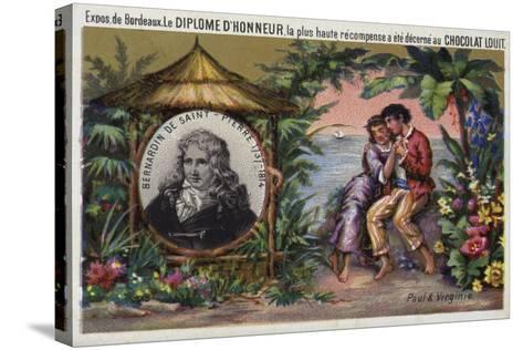 Jacques Henri Bernardin De Saint Pierre, French Writer and Botanist--Stretched Canvas Print