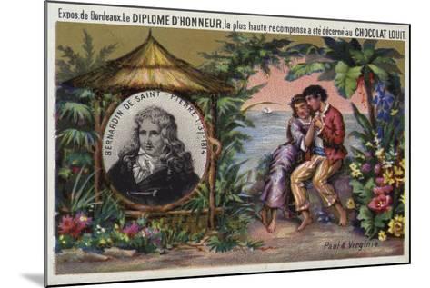 Jacques Henri Bernardin De Saint Pierre, French Writer and Botanist--Mounted Giclee Print