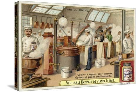 Steam Cooking, for Barracks, Hospitals and Large Establishments--Stretched Canvas Print