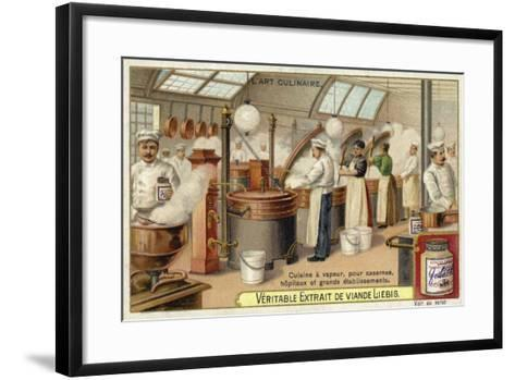 Steam Cooking, for Barracks, Hospitals and Large Establishments--Framed Art Print