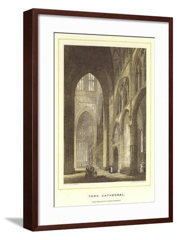 York Cathedral, View from South to North Transept--Framed Art Print