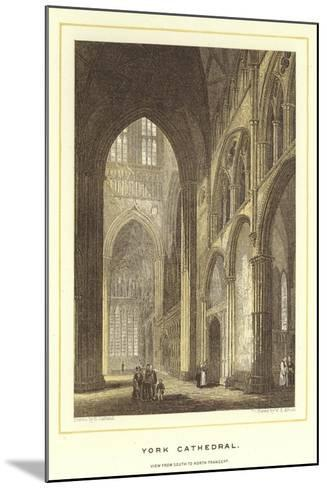 York Cathedral, View from South to North Transept--Mounted Giclee Print