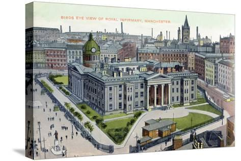 Birds Eye View of the Royal Infirmary, Manchester--Stretched Canvas Print