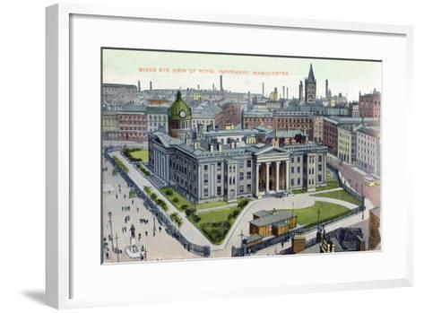 Birds Eye View of the Royal Infirmary, Manchester--Framed Art Print