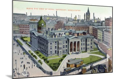 Birds Eye View of the Royal Infirmary, Manchester--Mounted Giclee Print