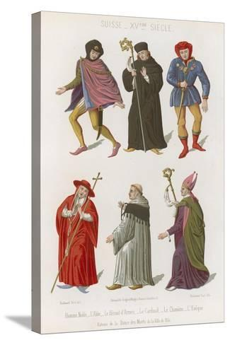 Abbot, the Chief Herald, Cardinal, Canon and Bishop--Stretched Canvas Print