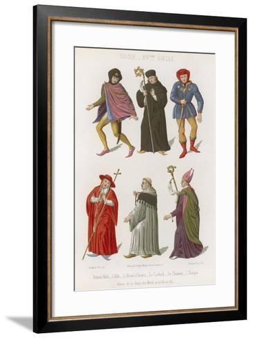 Abbot, the Chief Herald, Cardinal, Canon and Bishop--Framed Art Print