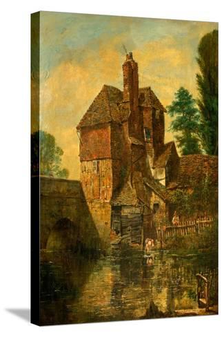 The House on Harnham Bridge, Salisbury, Wiltshire, C.1860--Stretched Canvas Print