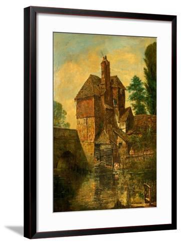 The House on Harnham Bridge, Salisbury, Wiltshire, C.1860--Framed Art Print
