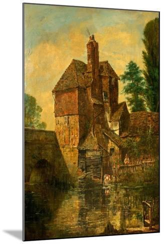 The House on Harnham Bridge, Salisbury, Wiltshire, C.1860--Mounted Giclee Print