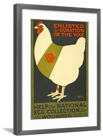 Enlisted for Duration of the War, Pub. London, C.1915--Framed Art Print