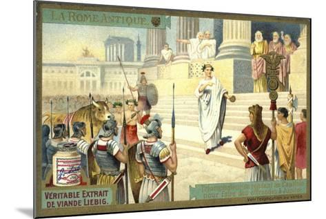Victor Visiting the Capitol to Make Offerings to Jupiter, Ancient Rome--Mounted Giclee Print