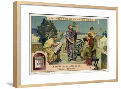 Claudius Ptolemy, Greco-Roman Astronomer and Mathematician and Geographer--Framed Art Print