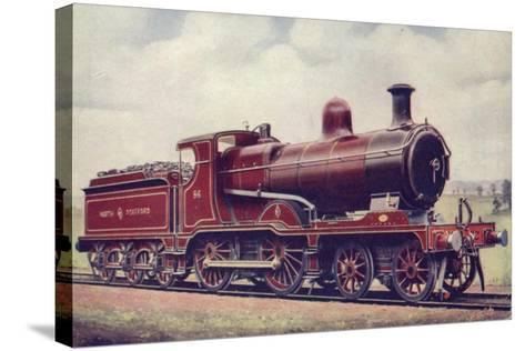 North Staffordshire Railway 4-4-0 Locomotive No 86--Stretched Canvas Print