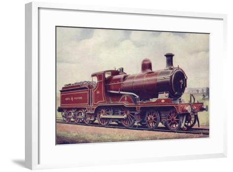 North Staffordshire Railway 4-4-0 Locomotive No 86--Framed Art Print