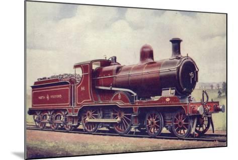 North Staffordshire Railway 4-4-0 Locomotive No 86--Mounted Giclee Print