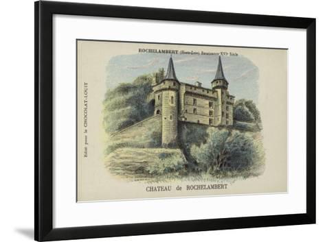 Chateau De Rochelambert, Rochelambert, Haute-Loire--Framed Art Print