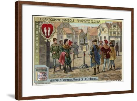 Notice of the Right of a Town to Levy Octroi Tax in the Middle Ages--Framed Art Print