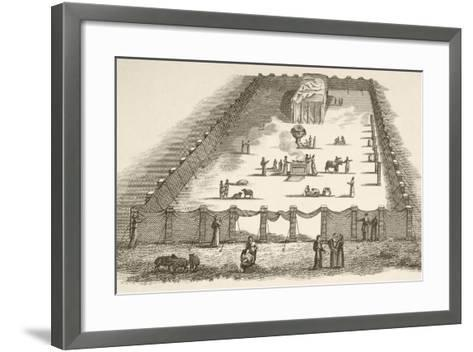 The Tabernacle in the Wilderness Including the Court of the Tabernacle--Framed Art Print