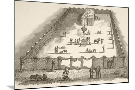 The Tabernacle in the Wilderness Including the Court of the Tabernacle--Mounted Giclee Print
