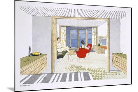 A Veranda Cabin Aboard the SS Oriana, from a Promotional Brochure--Mounted Giclee Print